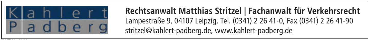 Rechtsanwalt Matthias Stritzel / Fachanwalt für Verkehrsrecht