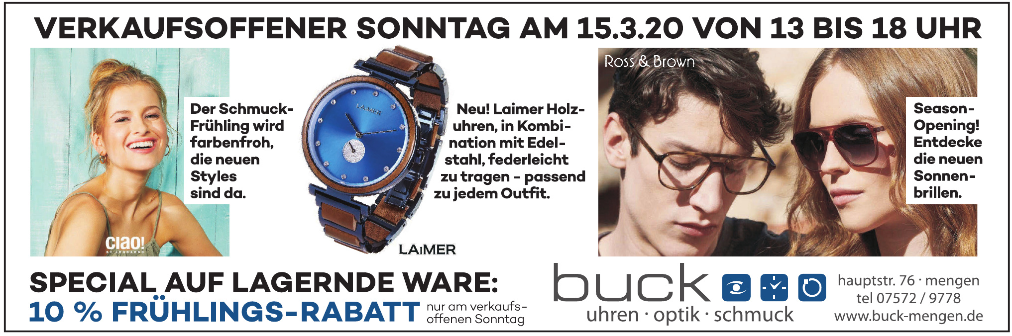 Uhren - Optik - Schmuck Buck