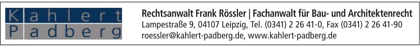 Rechtsanwalt Frank Rössler