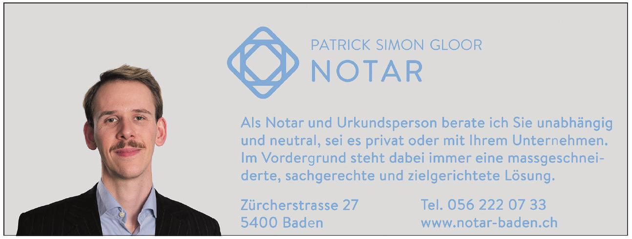 Patrick Simon Gloor Notar