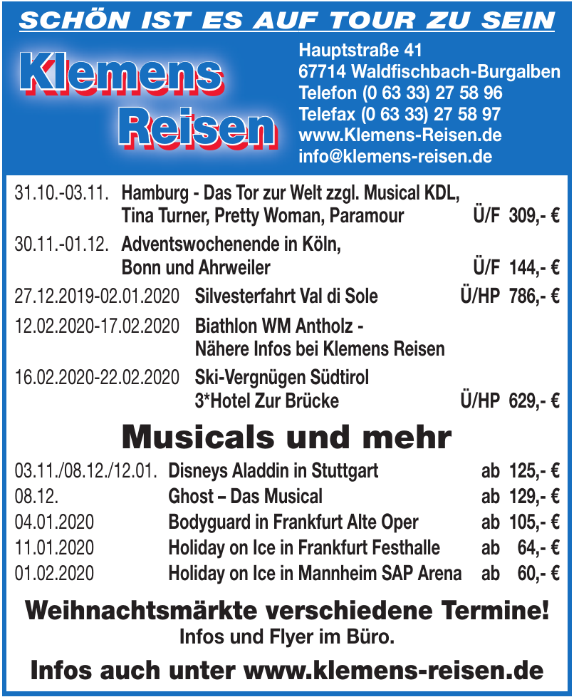 Klemens Reisen