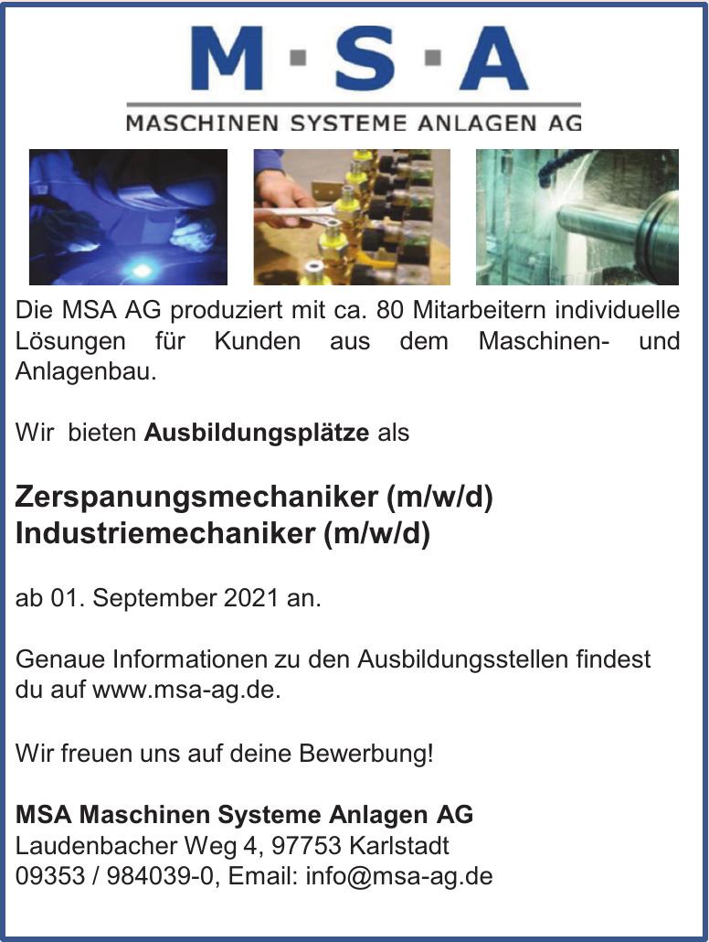 MSA Maschinen Systeme Anlagen AG