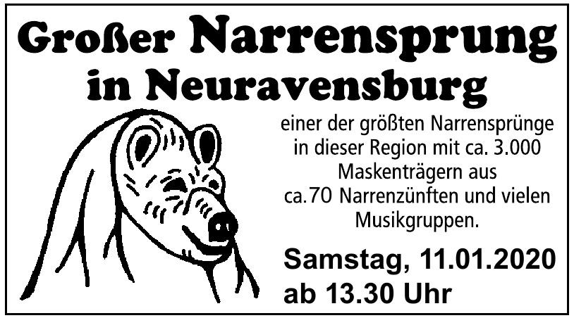 Großer Narrensprung in Neuravensburg