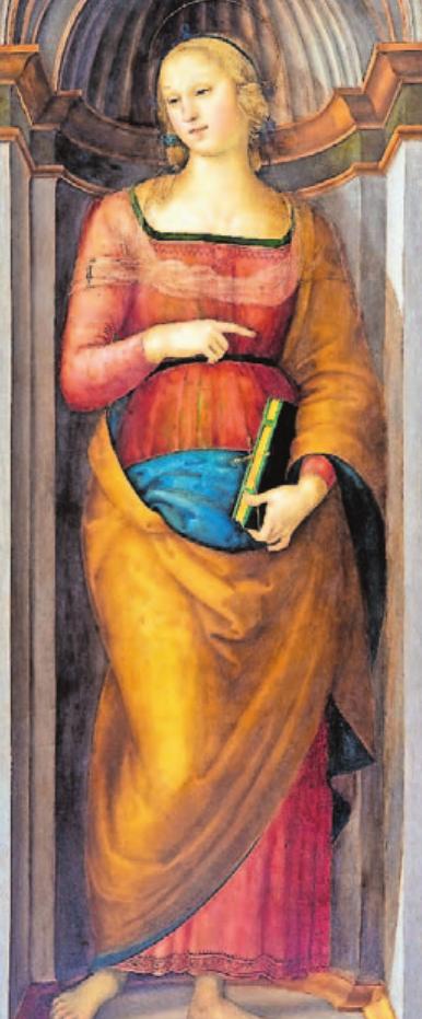 Pietro Perugino, Heilige Margarethe von Antiochia, um 1505/06, Lindenau-Museum Altenburg.