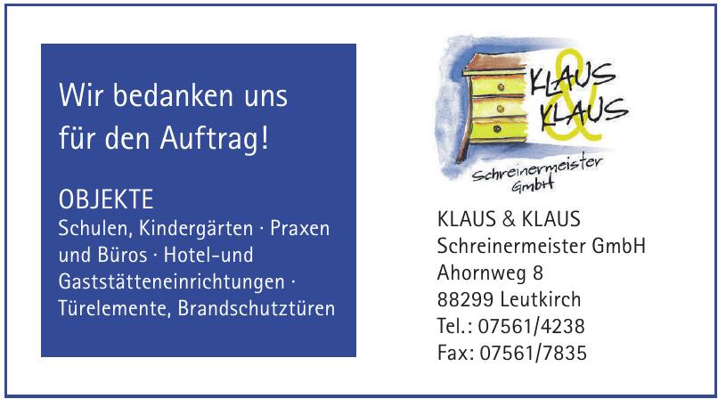 Klaus & Klaus Schreinermeister GmbH