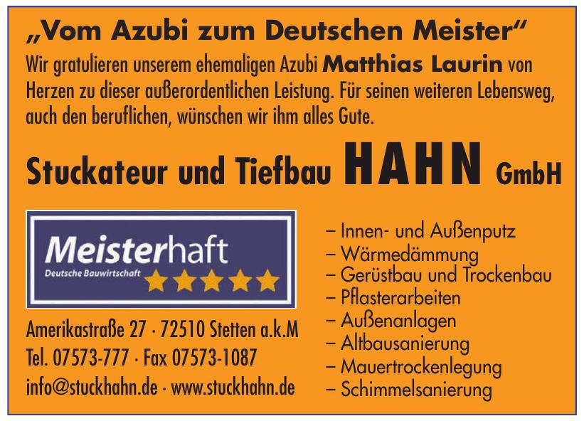 Stuckateur und Tiefbau Hahn GmbH