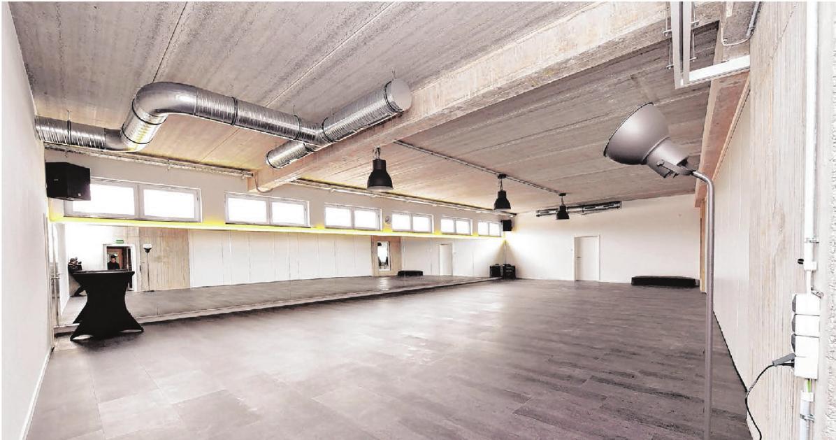 Der große Raum bietet viel Fläche für das effektive Functional-Training.
