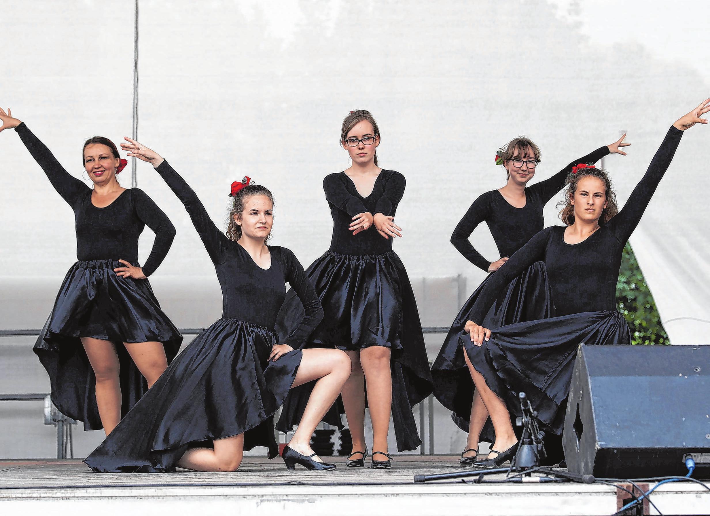 """Tanzgruppe der Musik- und Kunstschule Havelland, """"Fantasia"""" zeigt nicht als einzige in Darbietungen ihr Können. Foto: Weber"""