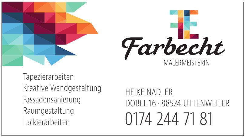 Farbecht - Malermeisterin Heike Nadler