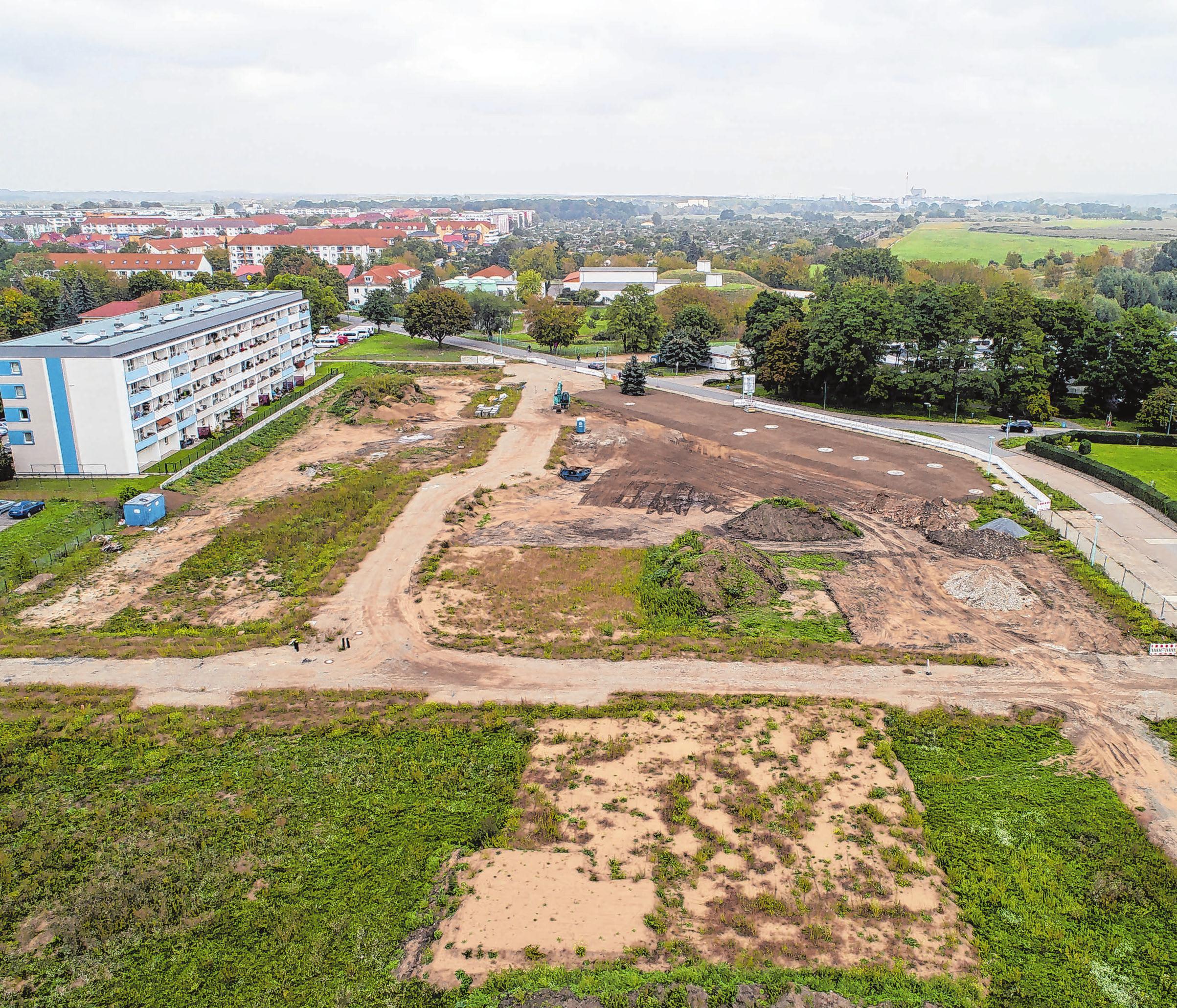 Viel Platz für neues Leben: Das Baugebiet an der Schwedter Regattastraße wird exklusiv vermarktet und bebaut von der massivBau GmbH Casekow, die hier zehn Ein- und vier Mehrfamilienhäuser errichten will. Mit etwas Glück bei den entsprechenden Genehmigungen kann es noch in diesem Jahr losgehen.