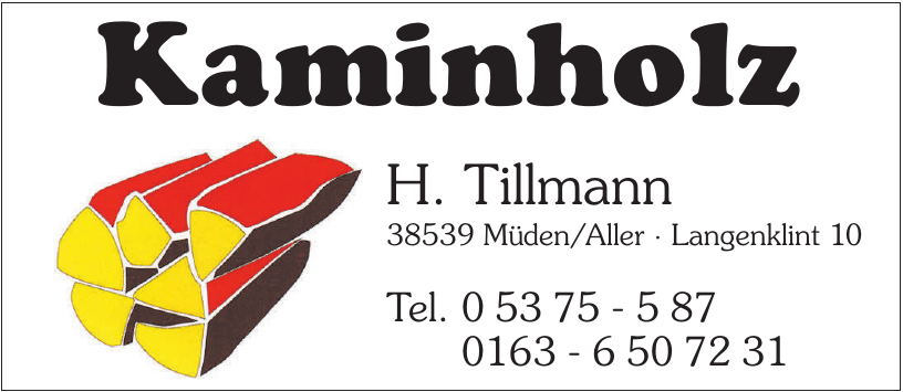 Kaminholz H. Tillmann