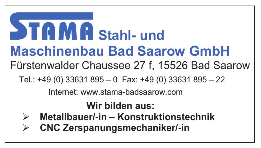 Stama Stahl- und Maschinenbau Bad Saarow GmbH