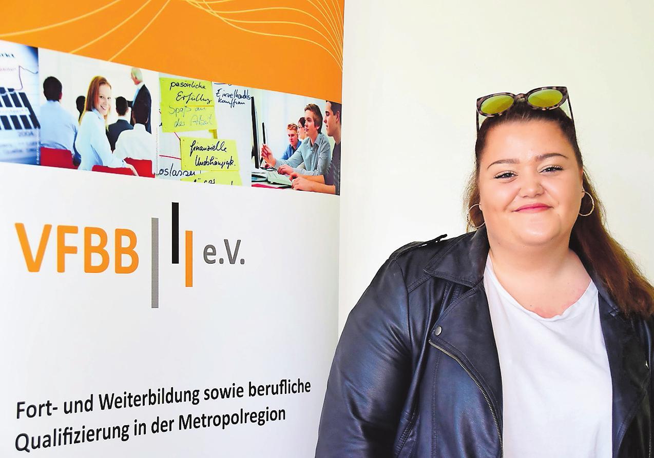 """Hat mit Hilfe des Projektes """"Rückenwind"""" den Start in eine Ausbildung geschafft: Celine Lange. FOTO: SWEN"""