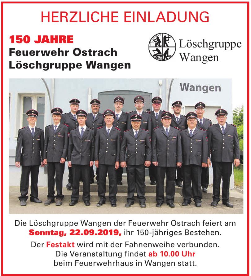 Feuerwehr Ostrach Löschgruppe Wangen