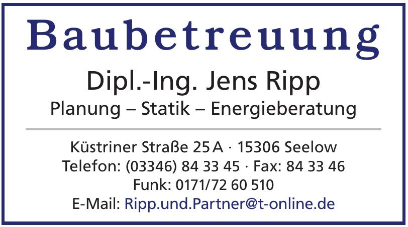 Baubetreuung Dipl.-Ing. Jens Ripp