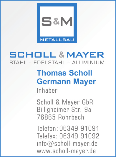 Scholl & Mayer Metallbau