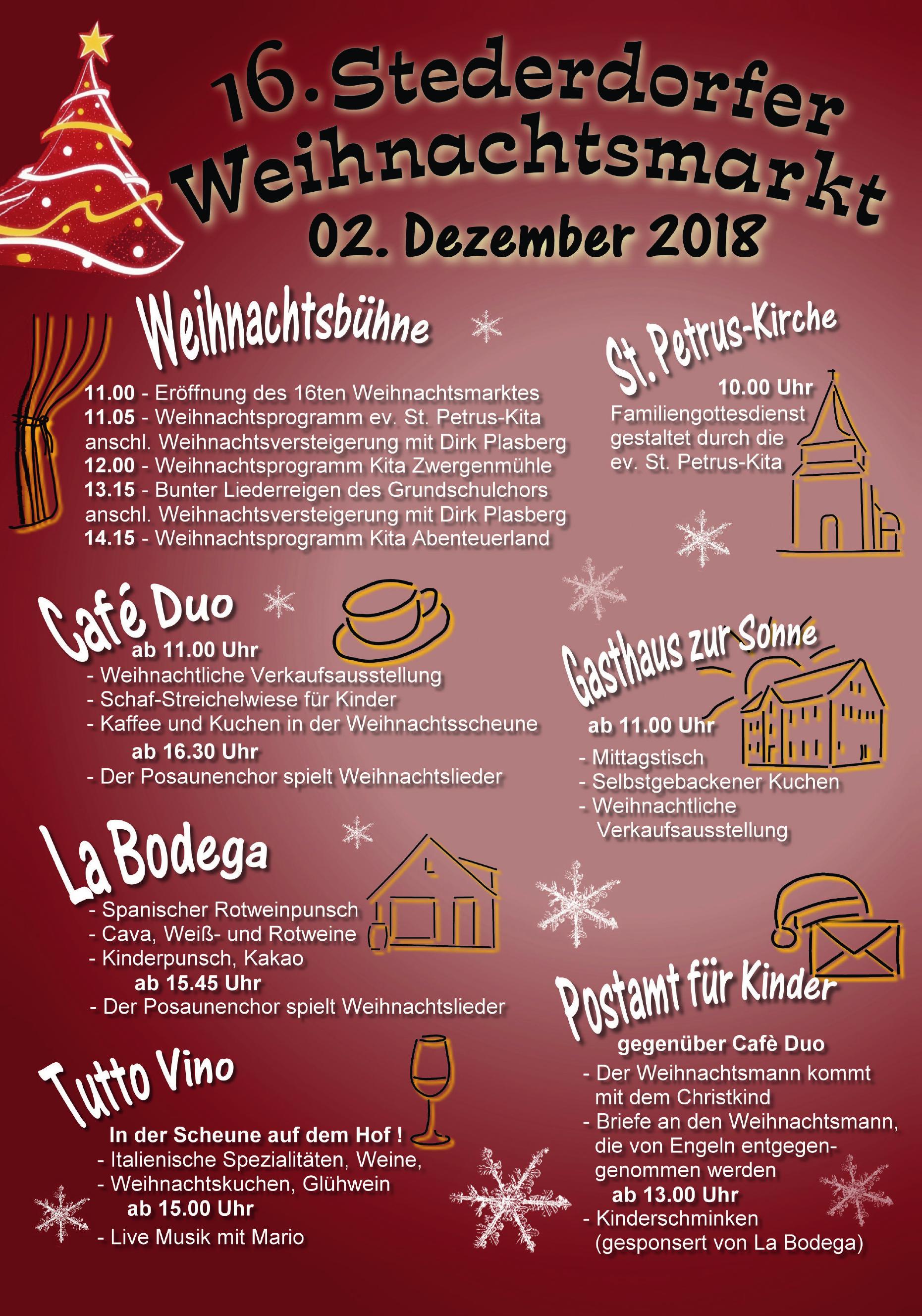 16. Stederdorfer Weihnachtsmarkt