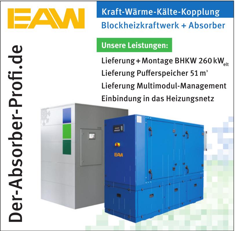 EAW Kraft-Wärme-Kälte-Kopplung Blockheizkraftwerk + Absorber