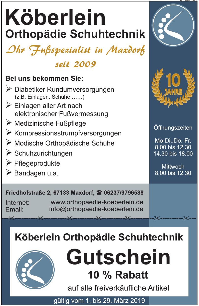 Köberlein Orthopädie Schuhtechnik