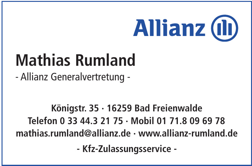 Mathias Rumland - Allianz Generalvertretung