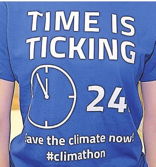 Zum ersten Climathon gab es passende T-Shirts für die Coaches und das Orga-Team.