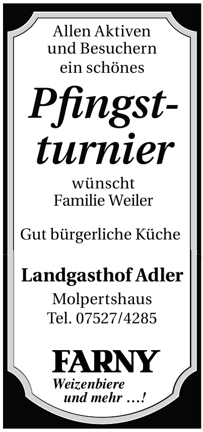 Landgasthof Adler Molpertshaus