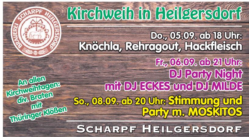 Kirchweih in Heilgersdorf