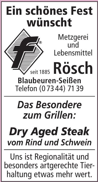 Metzgerei und Lebensmittel Rösch