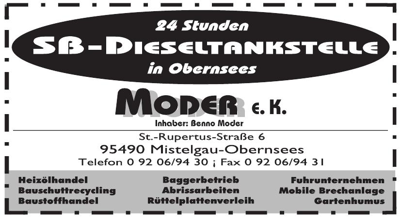 SB-Dieseltankstelle Moder e.K.