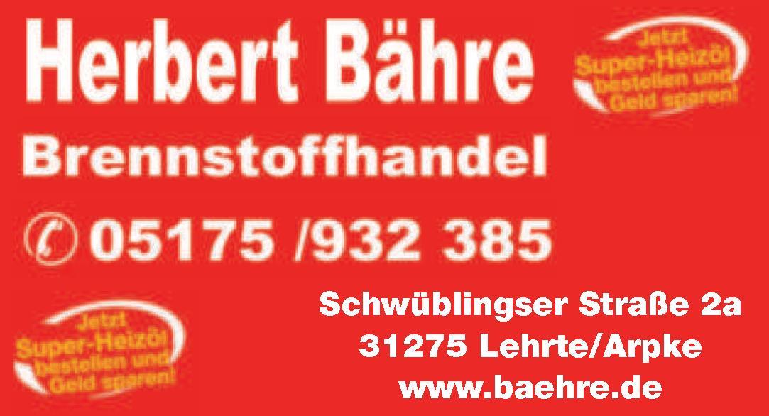 Herbert Bähre Bresnstoffhandel
