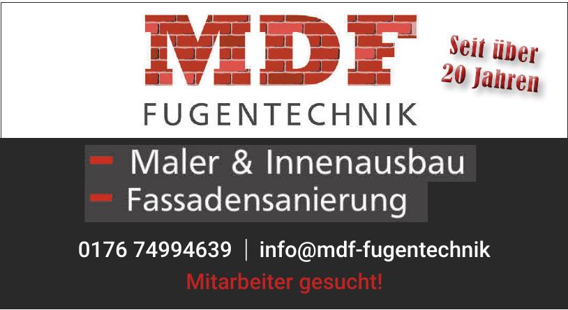 MDF Fugentechnik