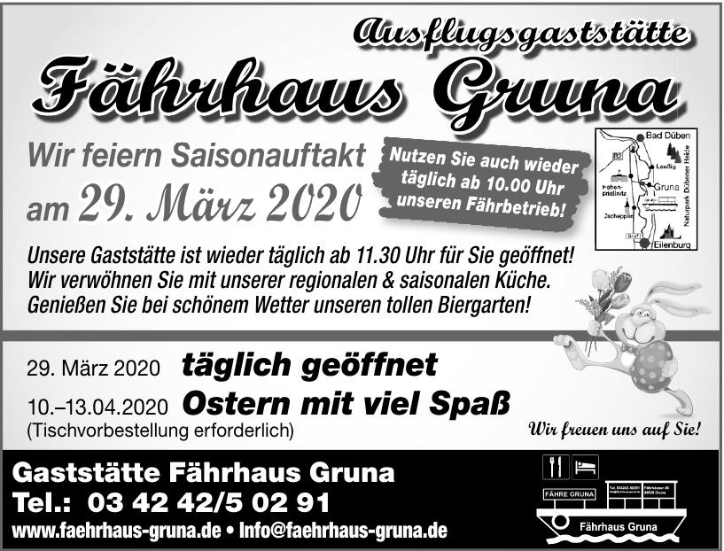 Gaststätte Fährhaus Gruna