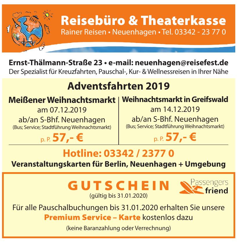 Reisebüro & Theaterkasse - Rainer Reisen