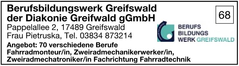 Berufsbildungswerk Greifswald der Diakonie Greifwald gGmbH