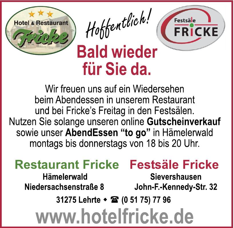 Hotel und Restaurant Fricke