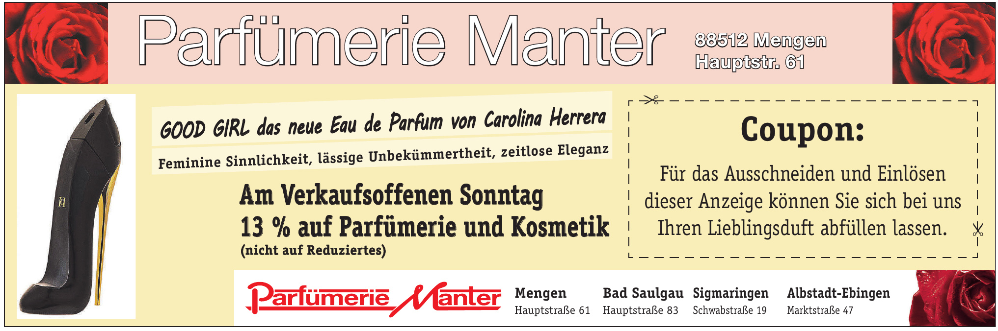 Parfümerie Manter