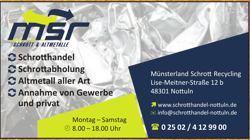 MSR - Münsterland Schrott Recycling