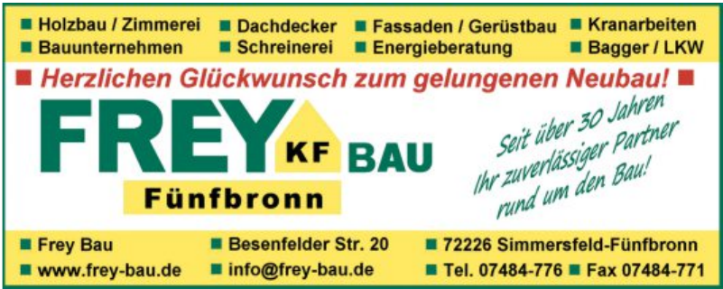 FreyBau Fünfbronn