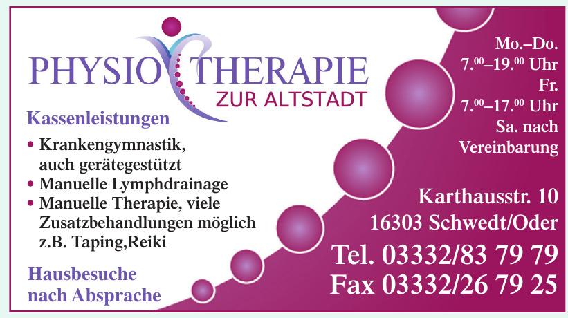 Physio Therapie Zur Altstadt
