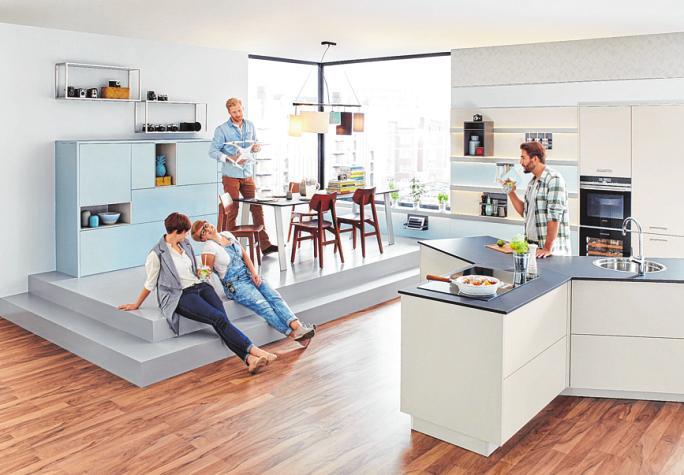 96 Prozent der Bauherren entscheiden sich heute für offene Wohnbereiche. FOTO: BALLERINA
