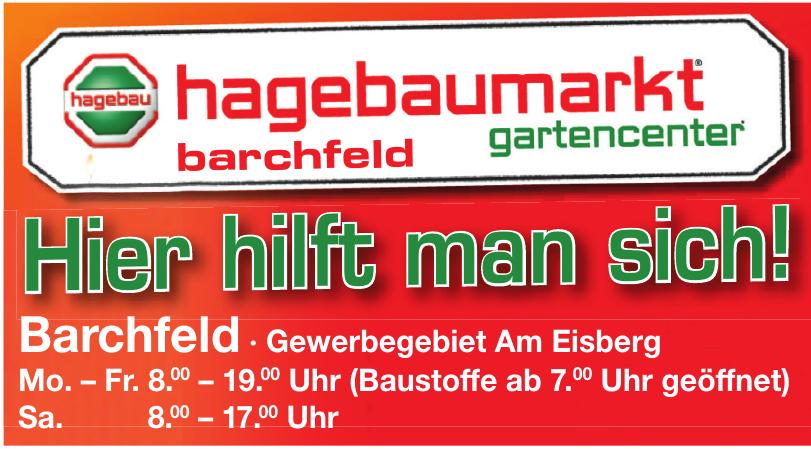 Hagebaumarkt Gartencenter Barchfeld