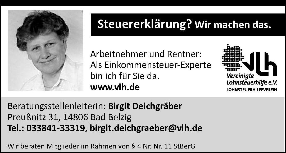 Vereinigte Lohnsteuerhilfe e.V. Birgit Deichgräber