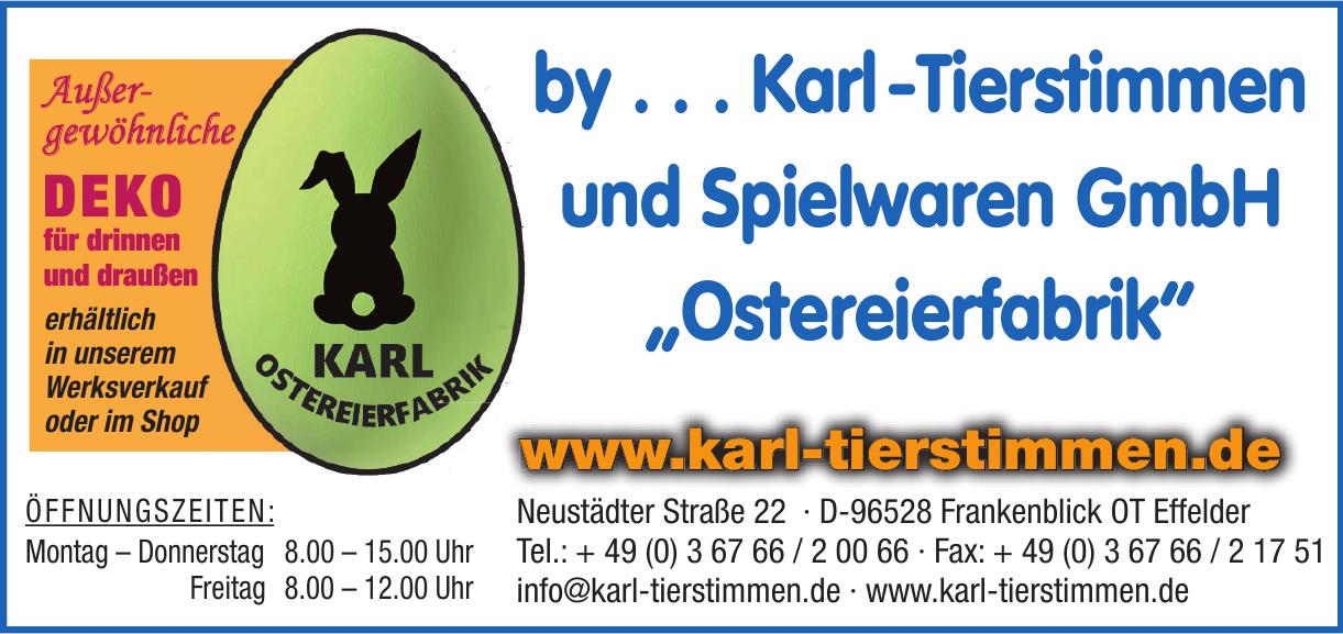 Karl-Tierstimmen und Spielwaren GmbH