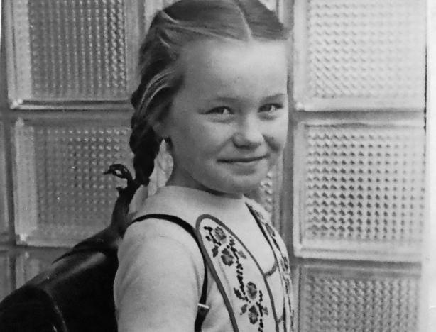 Pfiffig: die junge Ulrike Schreiber. FOTO: SCHREIBER/FREI