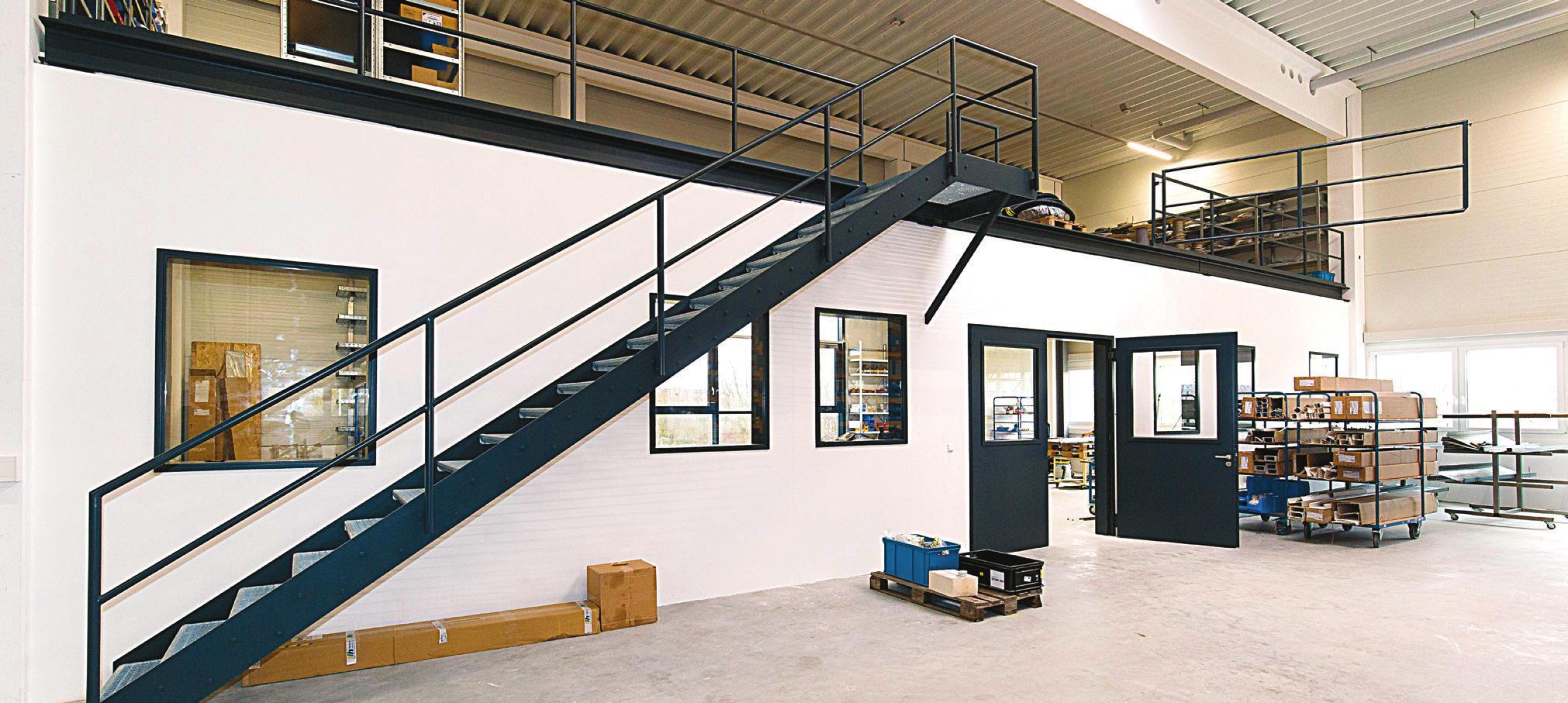 Im neuen Gebäude ist auch eine Elektrowerkstatt für den Schaltschrankbau untergebracht.