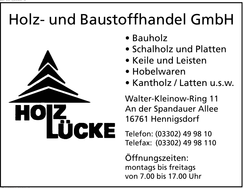 Holz- und Baustoffhandel GmbH