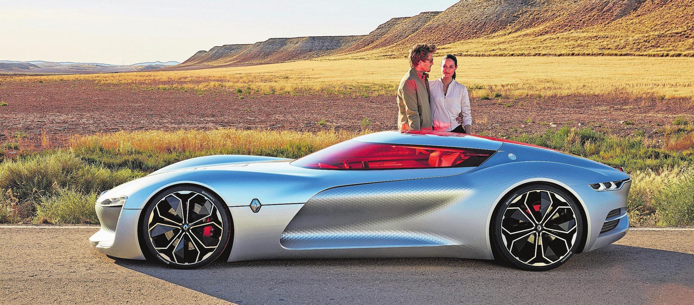 Visionäre Studie ohne Bezug zur Realität: Der bildschöne Renault Trezor von 2016 wurde nie gebaut. Bild: PD