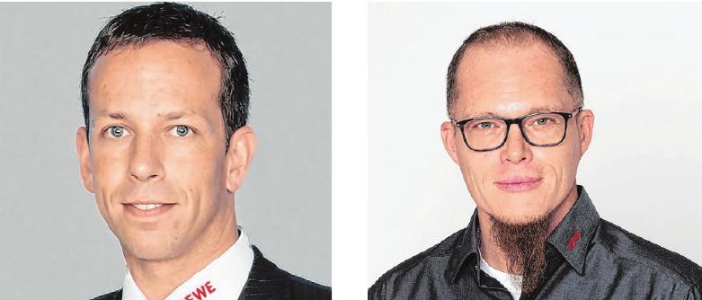 Inhaber Uwe Ströbel (links) und Marktleiter Thomas Mezger wollen heimische Erzeuger gezielt unterstützen.