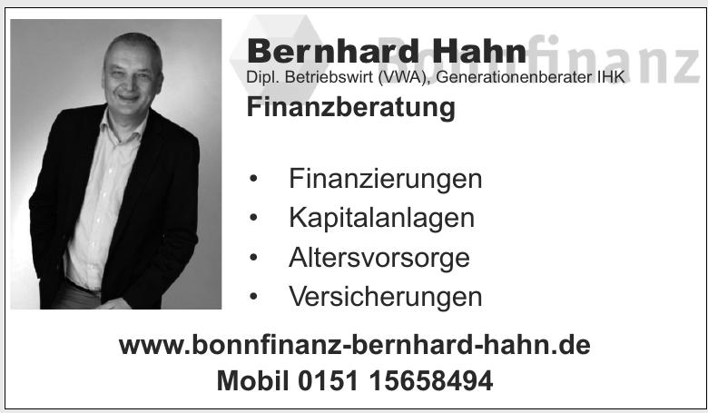 Bernhard Hahn Dipl. Betriebswirt (VWA) Generationenberater IHK