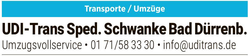 UDI-Trans Sped. Schwanke Bad Dürrenb.
